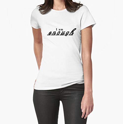 Unisex Hoodie Sweatshirt For Mens Womens Ladies Kids I am enough Fitted TShirt Short Sleeves Shirt