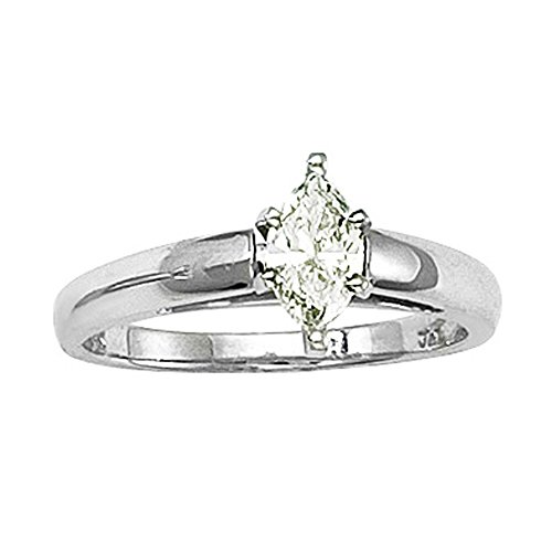 White Gold 1/2 Carat Marquise - 4