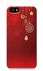 iPhone 5 5S Case Christmas decorations and red 3D Custom iPhone 5 5S Case Cover