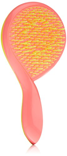 Michel Mercier Ultimate Girlie Detangling Brush for Fine Hair, Pink Handle/Yellow Bristles