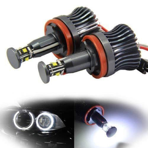 iJDMTOY 360-Degree Xenon White CREE 20W High Power H8 LED Angel Eyes for BMW E60 E61 E90 E92 E70 E71 E82 E89 1 3 5 Series X5 X6 Z4