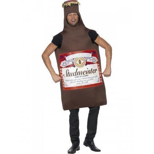 - Fancy Me Men's Budweiser Beer Bottle Lager Studmeister Stag Do Fancy Costume One Size Brown