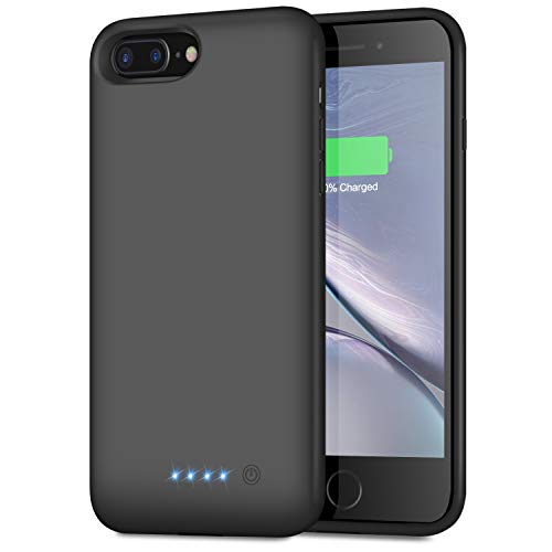 Battery Case for iPhone 8 Plus/7 Plus/6 Plus/6s Plus,8500mAh Portable Protective Charging Case Extended Rechargeable Battery Pack Charger Case Compatible with iPhone 7 Plus/8 Plus/6/6s Plus (5.5 inch) (Best Phone Case For Iphone 8 Plus)