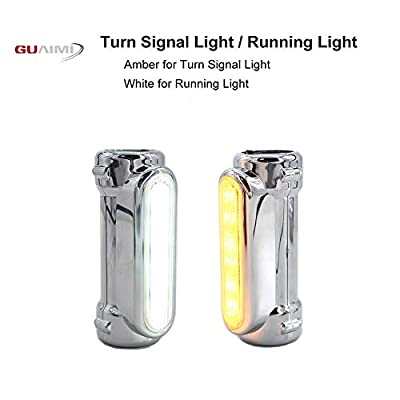 GUAIMI Motorcycle Highway Bar Lights Smoke Lens Switchback Driving Lights Fits 1-1/4