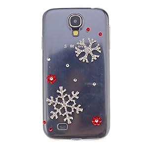 Mini - Double Zircon Snowflake Ornament Transparent Jewelry Back Case for Samsung Galaxy S4 I9500