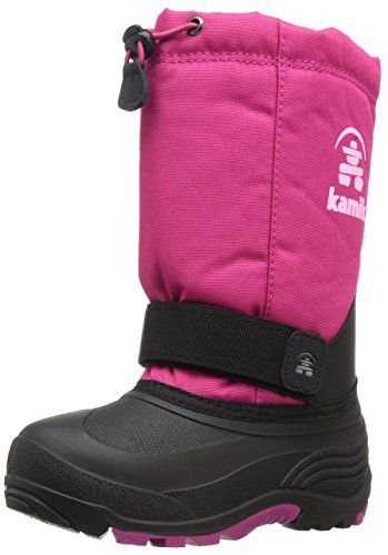 (Kamik Girls' Rocket Snow Boot, Rose, 10 Medium US Toddler)