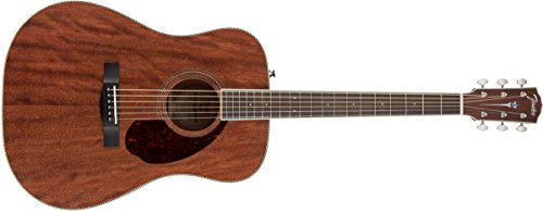 Fender Paramount Series PM-1 Standard All-Mahogany Dreadnought Acoustic Guitar Natural ()