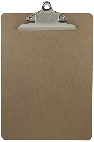 Letter Size Clipboard Standard Clip 9 x 12.5 Hardboard Single (Pack of 1)