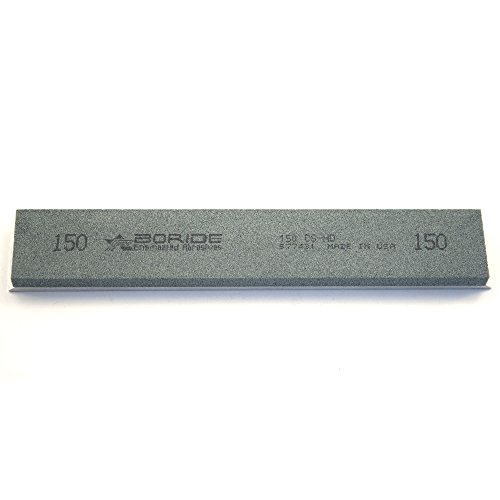 """Boride CS-HD Series 6"""" x 1"""" x 0.25"""" Silicon Carbide Sharpening Stone with Aluminum Mounting for Edge Pro 150 Grit"""