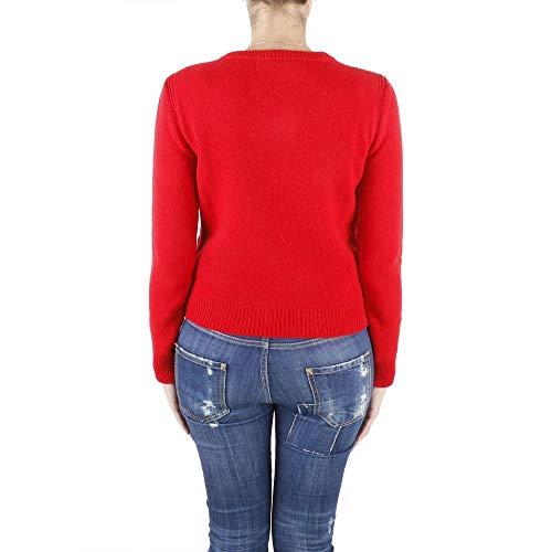 maglia E Lana Ferretti Vergine Alberta Cashmere In Red J0948 6X5tSq