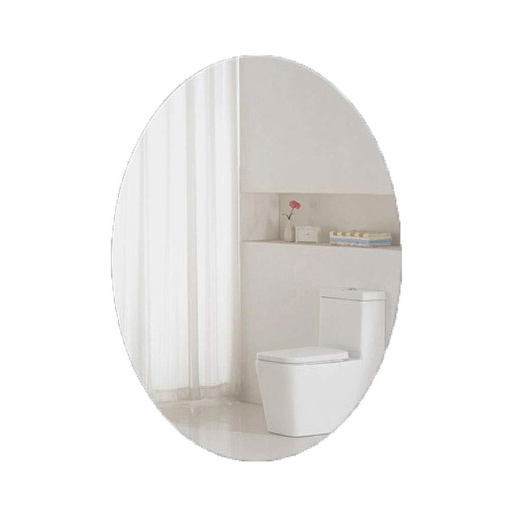 Oval 50cmX70cm QARYYQ Bathroom Mirror Bathroom Frame Wall Mounted Vanity Mirror wash Basin Mirror Wall Mirror (Shape   Rounded, Size   70cmX90cm)