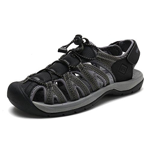 DREAM PAIRS Mens 160912-M-NEW Adventurous Summer Outdoor Sandals
