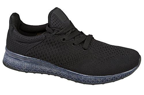 gibra - Zapatillas de running de tela para hombre negro