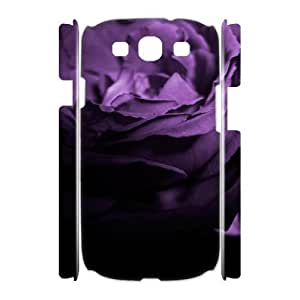 3D Samsung Galaxy S3 Case Rose 43 Protective for Girls, Samsung Galaxy S3 Case for Women Bloomingbluerose, [White]