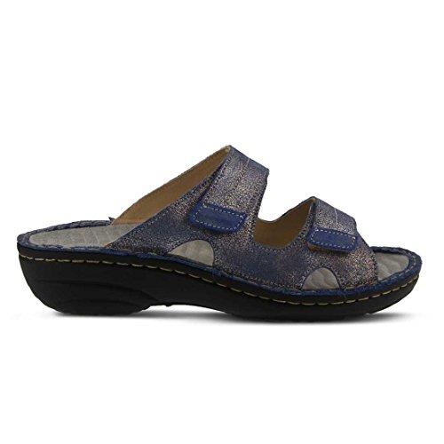Lente Step Womens Marsela Plat Sandaal Blauw