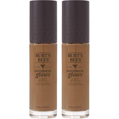 Burt's Bees Goodness Glows Liquid Makeup, Chestnut - 1.0 Ounce (Pack of 2)