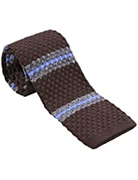 Mens Casual Stripe Patterned Knit Neck Tie