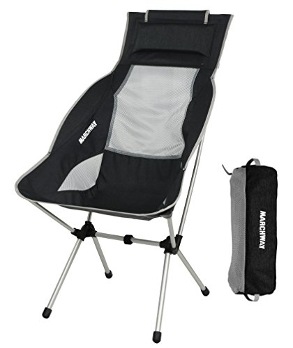 MARCHWAY Lightweight Folding High Back Camping...