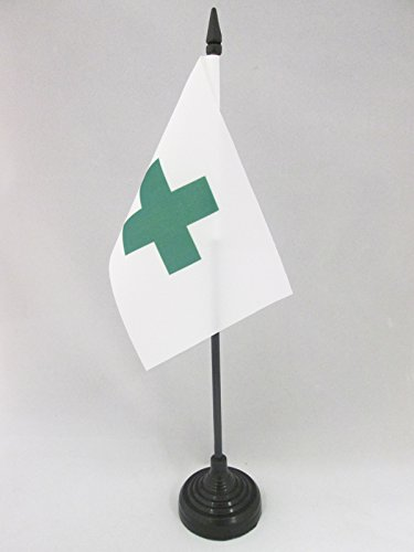environmental organisation Desk Flag 15 x 10 cm AZ FLAG Green Cross International Table Flag 4 x 6 Black plastic stick and base