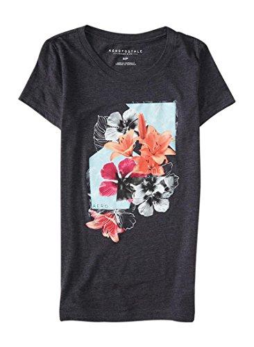 aeropostale-womens-floral-burst-graphic-t-shirt-xl-charcoal-heather-grey