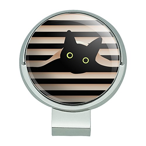 GRAPHICS & MORE Black Cat in Window Golf Hat Clip with Magnetic Ball Marker