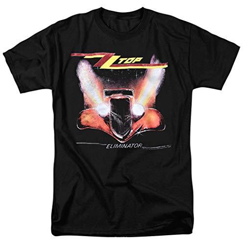 ZZ Top Eliminator Album T Shirt & Exclusive Stickers (Small) Black