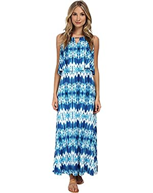 Womens Print Double Layer Maxi