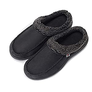PromArder Men's House Slippers Memory Foam Anti-Slip House Shoes Indoor Outdoor