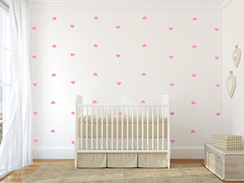 "YOYOYU Set of 96 pieces 2"" Heart Wall Decor Sticker DIY Chil"