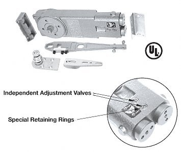 CRL 105 Degree Hold Open Overhead Concealed Closer Package for Side-Load Installation A.D.A. ''S'' Package - CRL8970S