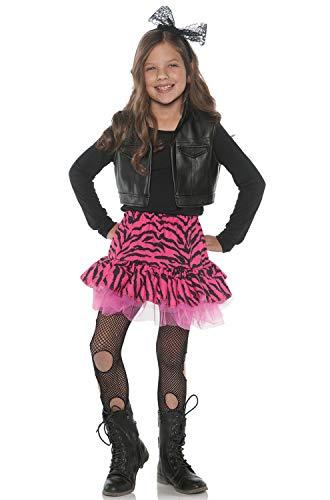 Underwraps Little Girl's 80's Retro Flashback Valley Girl Zebra Rocker Costume - ()
