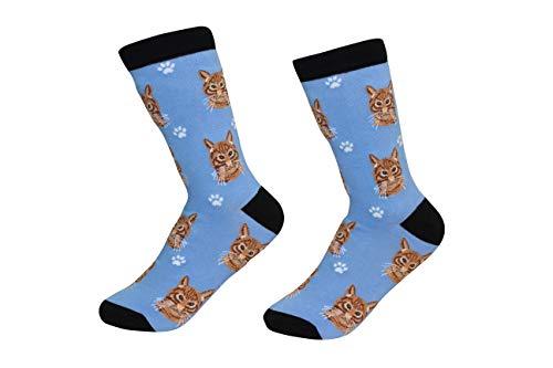 Orange Tabby Cat Breed Socks Unisex Sock Daddy by E&S Pets