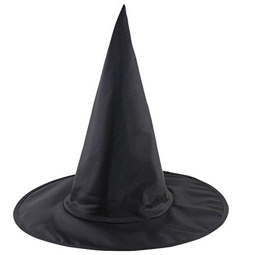 Black Witch Hat For Halloween Carnivals Costume Accessorious Adult Caps Set of 5