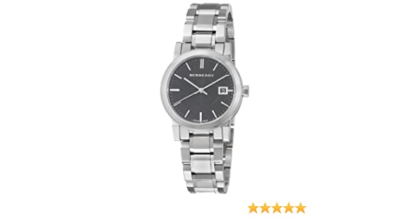 601547d7bc0 Amazon.com  Burberry Women s BU9101 Large Check Stainless Steel Bracelet  Watch  Burberry  Watches