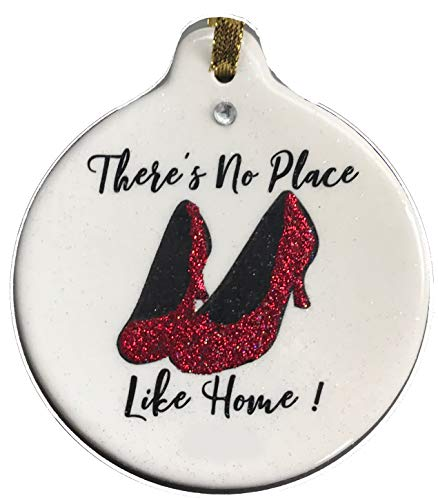 - Laurie G Creations There's No Place Like Home Ruby Red Slippers Ornament Rhinestone Housewarming
