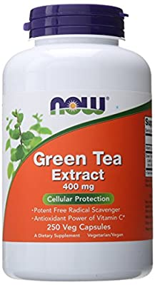 NOW Green Tea Extract 400 mg,250 Veg Capsules by AmazonUs/NOWFV