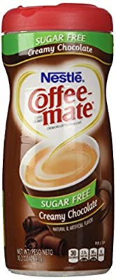 Nestl?? Coffee Mate Sugar Free Powdered Creamer Chocolate, 10.2 OZ (Pack of 6) by Nestl??