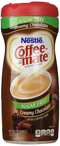 Nestle Coffee Mate Sugar Free Powdered Creamer Chocolate, 10.2 OZ (Pack of 6