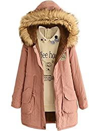Skirt BL Women's Winter Jacket Casual Thicken Hooded Fleece Lining Zipper Padded Coat