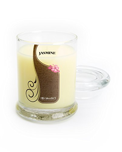 Pure Jasmine Candle - 6.5 Oz. Highly Scented Yellow Jar Candle - Floral Candles Collection