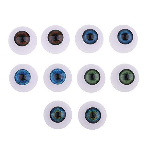 5 Pairs/Set Halloween Eyeball Plastic Eyeballs Eyes Crafts