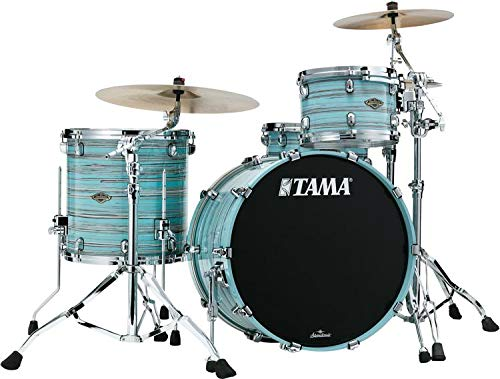 Tama Starclassic Walnut/Birch Lacquer 3-piece Shell Pack - Lacquer Arctic Blue Oyster