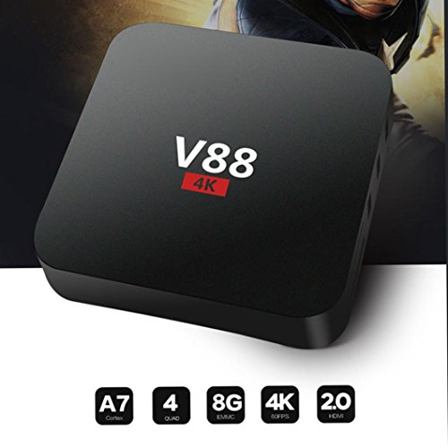 SO-buts V88-4K Max Android TV-Box, 1080p HD, Android 5.1, DDRII1GB, Android 5.1 Quad-Core-Prozessor 64-Bit-, 802.11 B/G…