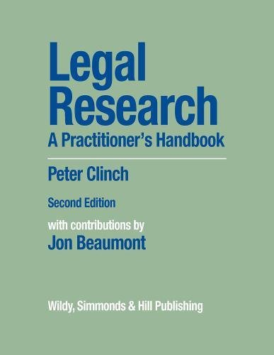 Legal Research: A Practitioner's Handbook