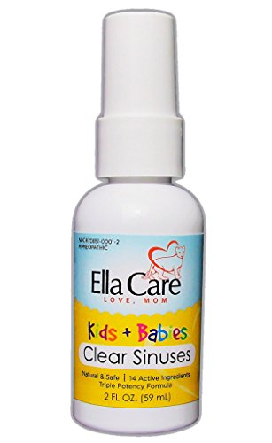 Ella Care CLEAR SINUSES For KIDS & BABIES ✮ Your Go-To Natural Remedy For Runny Nose & Congestion ✮ Easy Oral Spray Application Of Our Premium Homeopathic Formula Homeopathic Remedy Runny Nose