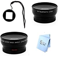 SAVEoN GoPro Hero3 and Hero3+ Wideangle & Telephoto Lens with Lens Filter Adapter