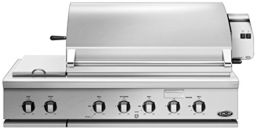 DCS BH148RSN 48'' Built In Grill With 1115 sq. inch Total Cooking Area Natural Gas Fueled Side Burners Ceramic Radiant Technology Rotisserie And Grease Management System: Stainless by DCS