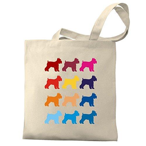 Schnauzer Bag Colorful Canvas Schnauzer Eddany Tote Colorful Eddany Canvas H8dPOOq