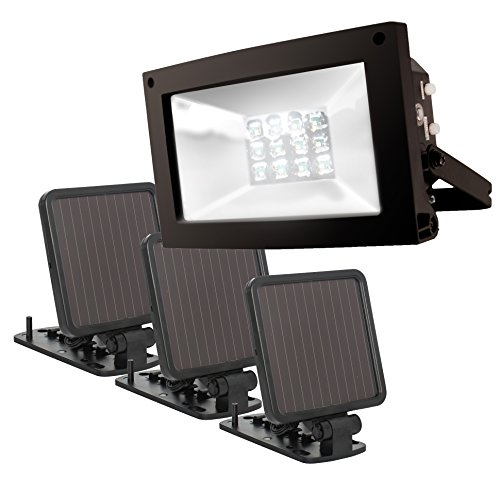 Maxsa Black Solar Powered Flood Light in US - 2