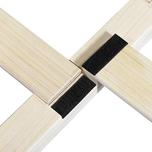 Olee Sleep Smart Wood Platform Bed Frame, King, Light Brown